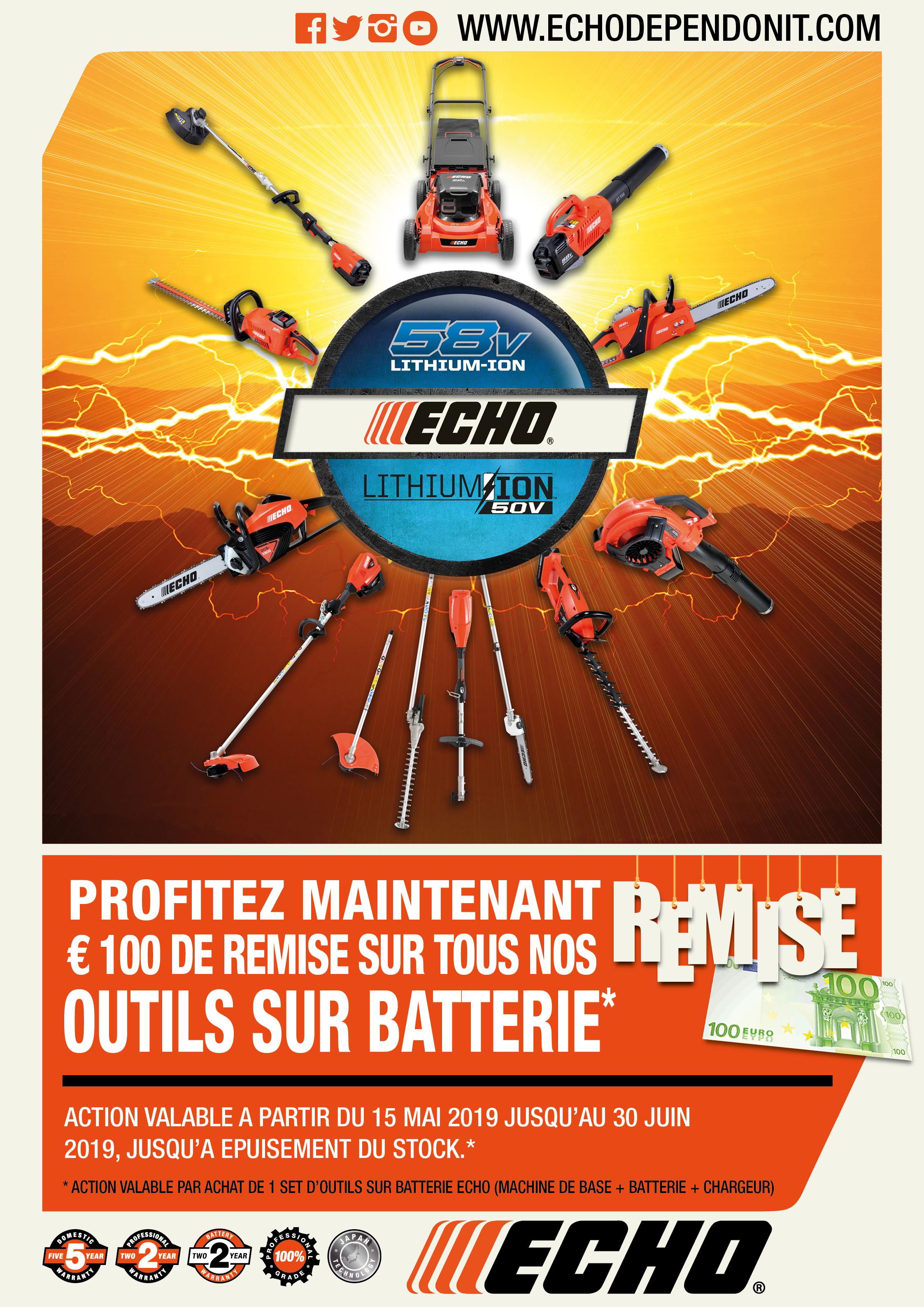 ECHO battery tools promo 50V_58V_19_FR